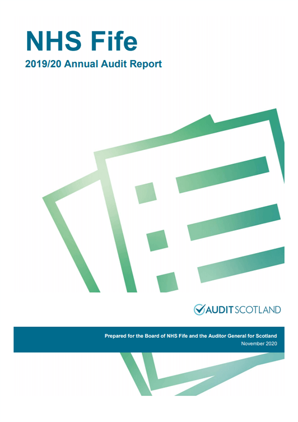 Report cover: NHS Fife annual audit report 2019/20