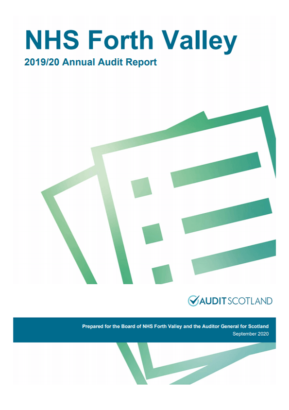 Report cover: NHS Forth Valley annual audit report 2019/20