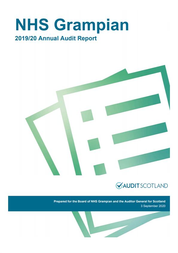 Report cover: NHS Grampian annual audit report 2019/20