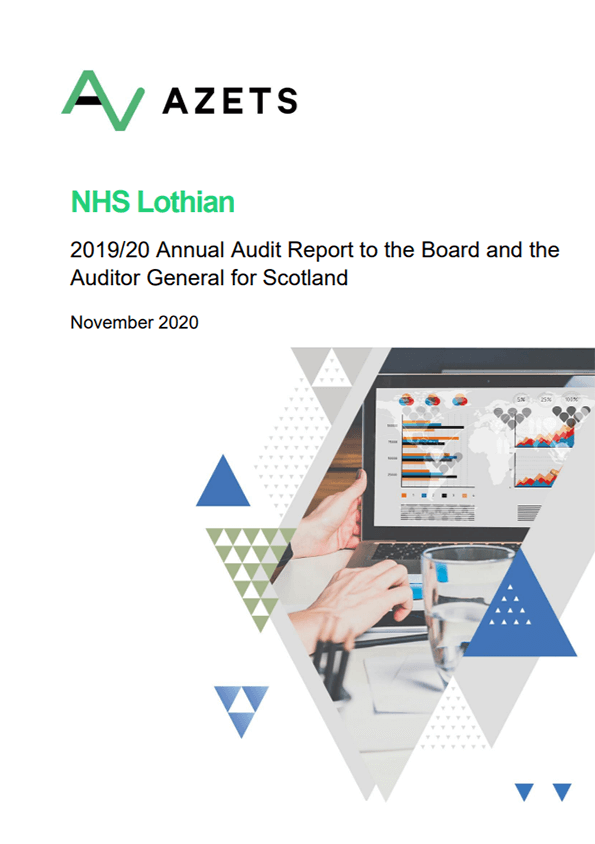 Report cover: NHS Lothian annual audit report 2019/20