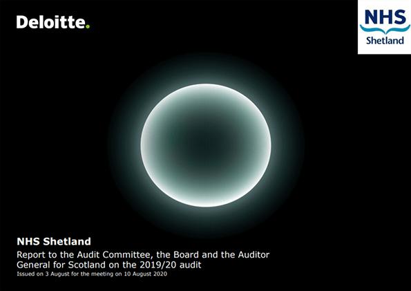 Report cover: NHS Shetland annual audit report 2019/20