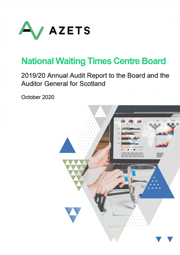 Report cover: National Waiting Times Centre Board annual audit report 2019/20