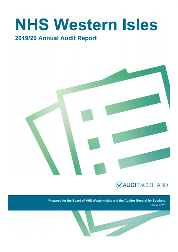 Report cover: NHS Western Isles annual audit report 2019/20