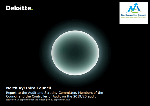 Report cover: North Ayrshire Council annual audit 2019/20