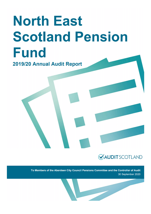 Report cover: North East Scotland Pension Fund annual audit 2019/20