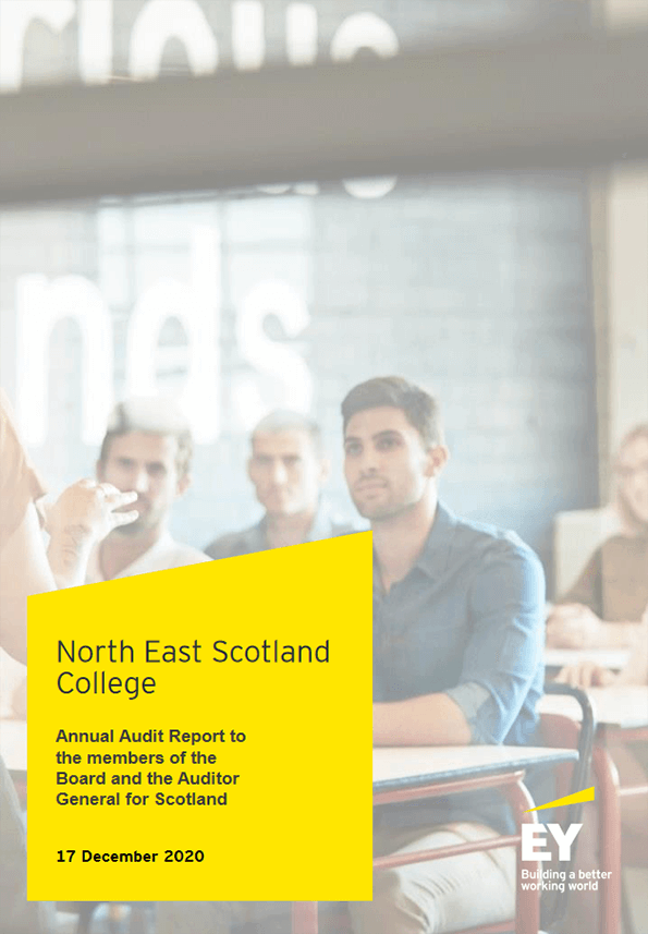 Report cover: North East Scotland College annual audit 2019/20