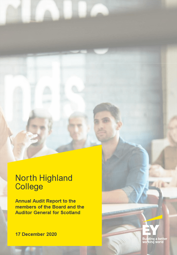 Report cover: North Highland College annual audit 2019/20