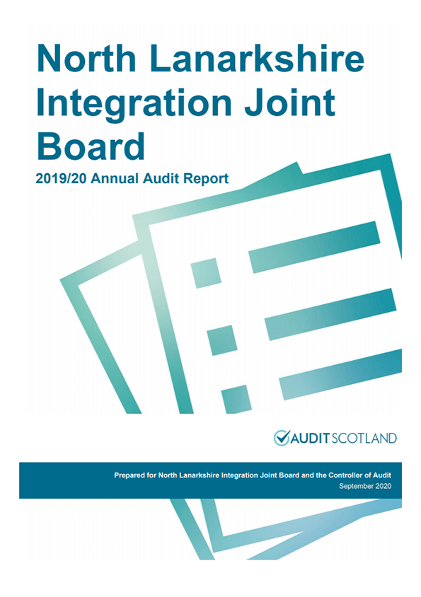 Report cover: North Lanarkshire Integration Joint Board annual audit 2019/20
