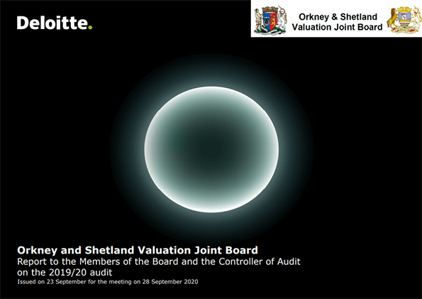 Report cover: Orkney and Shetland Valuation Joint Board annual audit 2019/20