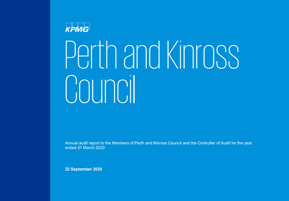 Report cover: Perth and Kinross Council annual audit 2019/20