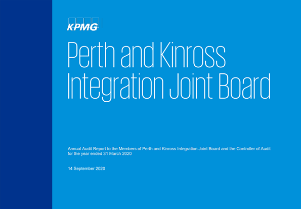 Report cover: Perth and Kinross Integration Joint Board annual audit 2019/20