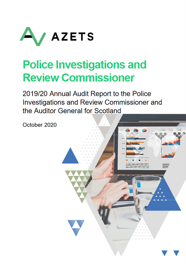 Report cover: Police Investigations and Review Commissioner annual audit 2019/20