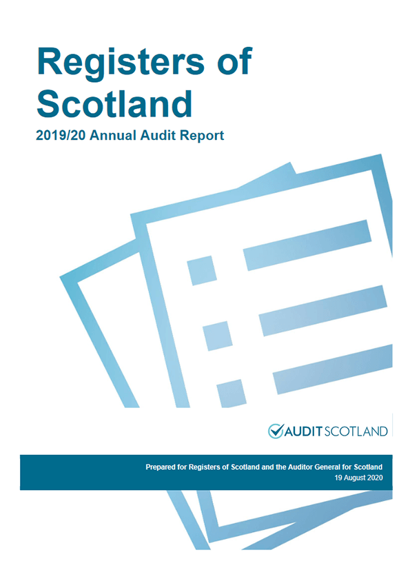 Report cover: Registers of Scotland annual audit 2019/20