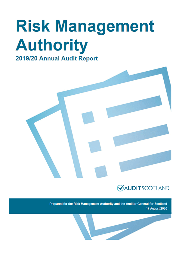 Report cover: Risk Management Authority annual audit 2019/20