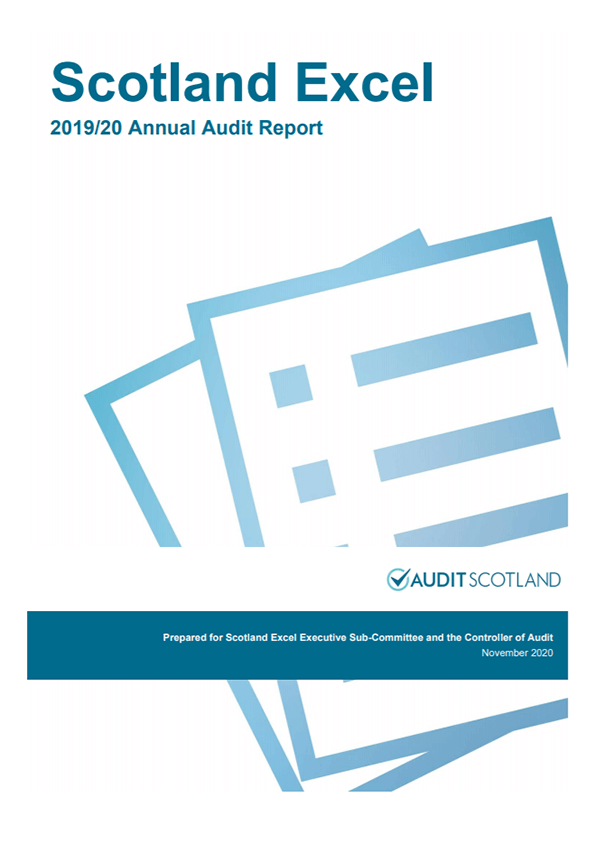 Report cover: Scotland Excel Joint Committee annual audit 2019/20
