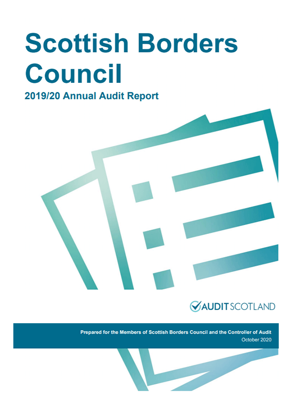 Report cover: Scottish Borders Council annual audit 2019/20