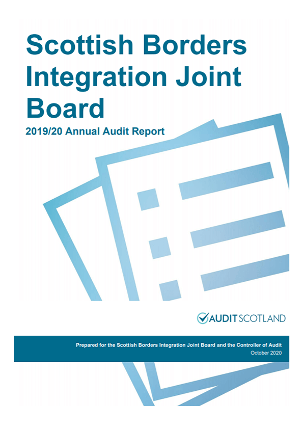 Report cover: Scottish Borders Integration Joint Board annual audit 2019/20