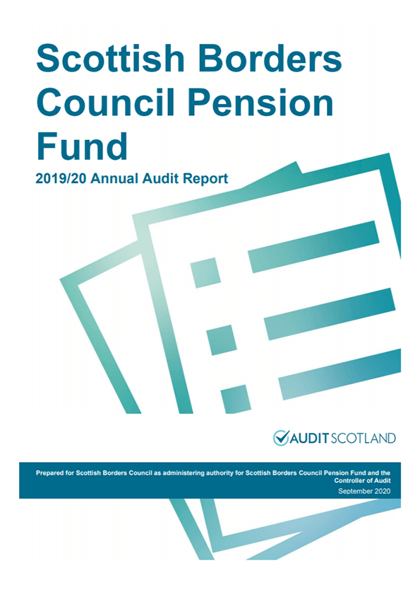 Report cover: Scottish Borders Council Pension Fund annual audit 2019/20