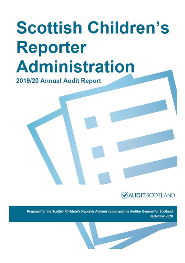 Report cover: Scottish Children's Reporter Administration annual audit 2019/20