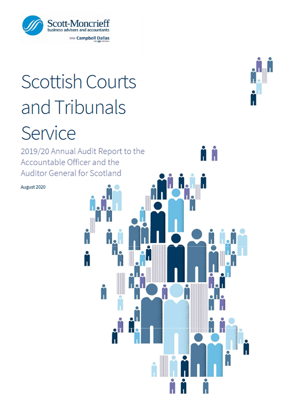 Report cover: Scottish Courts and Tribunals Service annual audit 2019/20