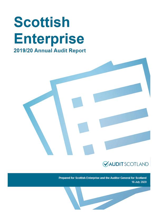 Report cover: Scottish Enterprise annual audit 2019/20