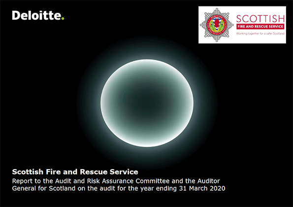 Report cover: Scottish Fire and Rescue Service annual audit 2019/20