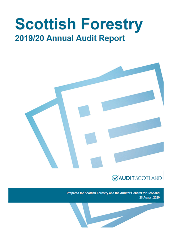 Report cover: Scottish Forestry annual audit 2019/20