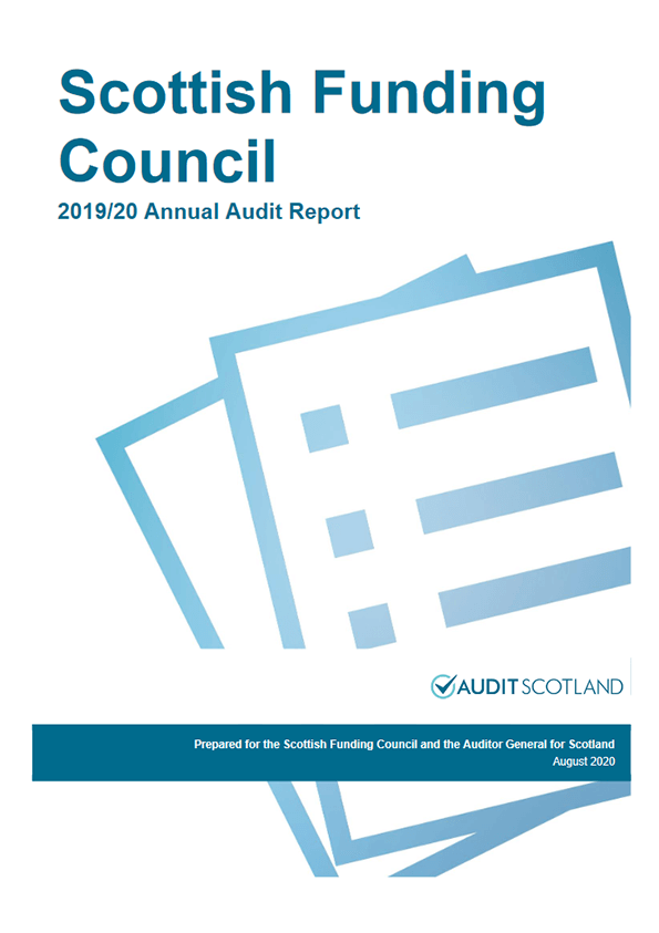 Report cover: Scottish Funding Council annual audit 2019/20