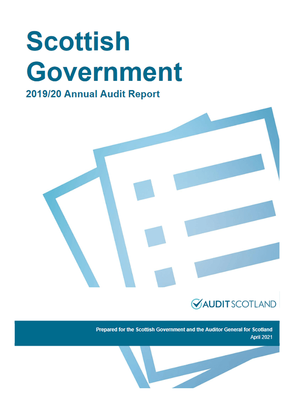 Report cover: Scottish Government annual audit 2019/20