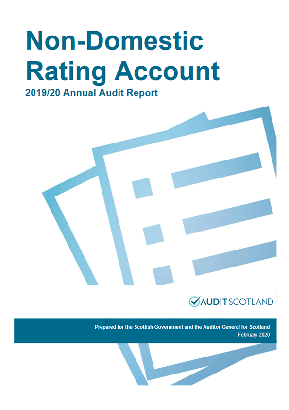 Report cover: Scottish Government: Non-Domestic Rating Account annual audit 2019/20