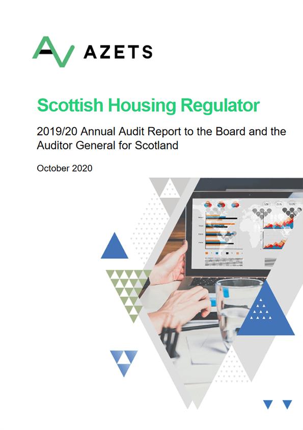 Report cover: Scottish Housing Regulator annual audit 2019/20