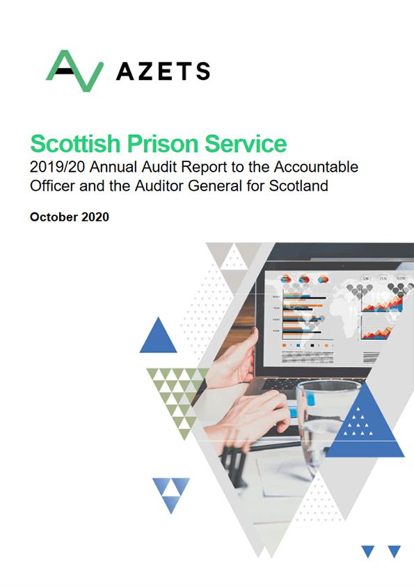 Report cover: Scottish Prison Service annual audit 2019/20
