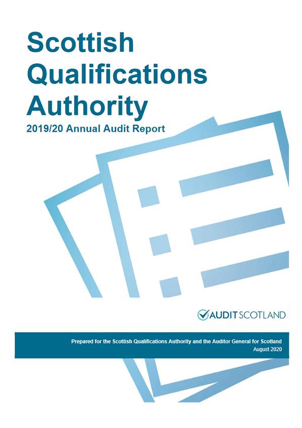 Report cover: Scottish Qualifications Authority annual audit 2019/20