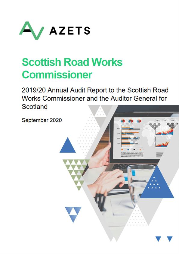 Report cover: Scottish Road Works Commissioner annual audit 2019/20