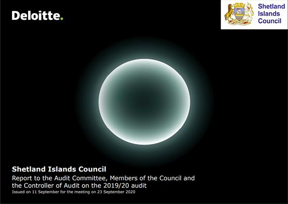 Report cover: Shetland Islands Council annual audit 2019/20