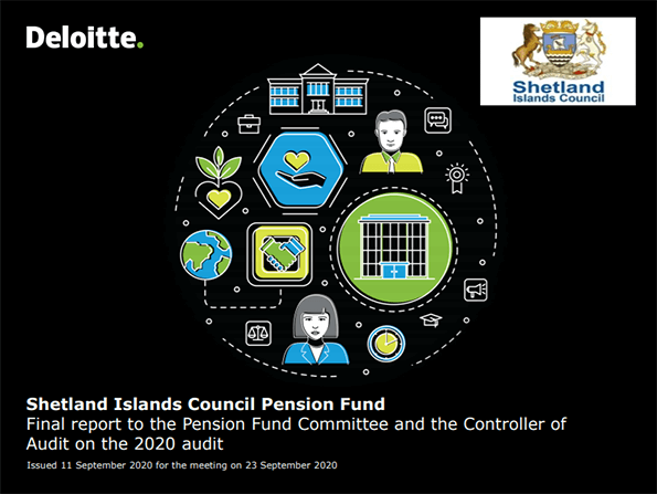 Report cover: Shetland Islands Council Pension Fund annual audit 2019/20