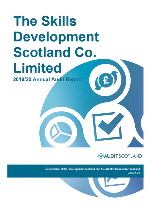 Report cover: Skills Development Scotland annual audit 2019/20