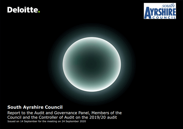 Report cover: South Ayrshire Council annual audit 2019/20