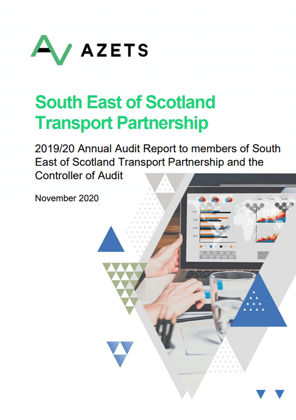 Report cover: South East of Scotland Transport Partnership annual audit 2019/20