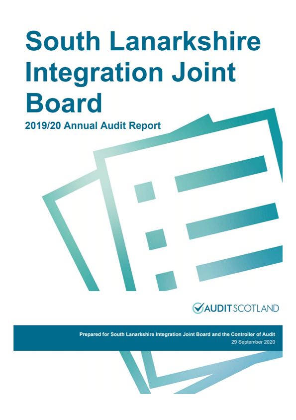 Report cover: South Lanarkshire Integration Joint Board annual audit 2019/20