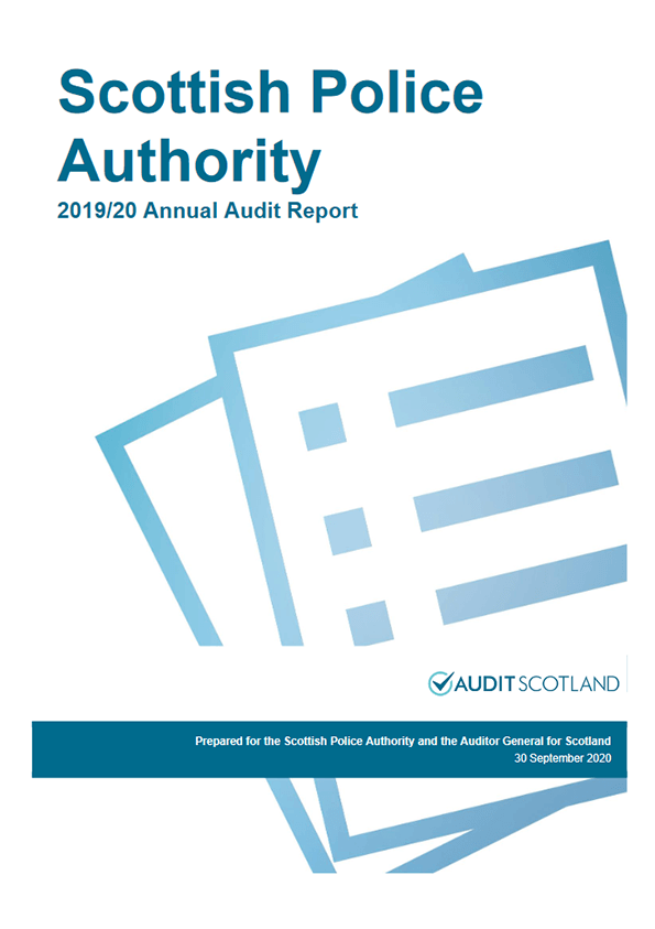 Report cover: Scottish Police Authority annual audit 2019/20