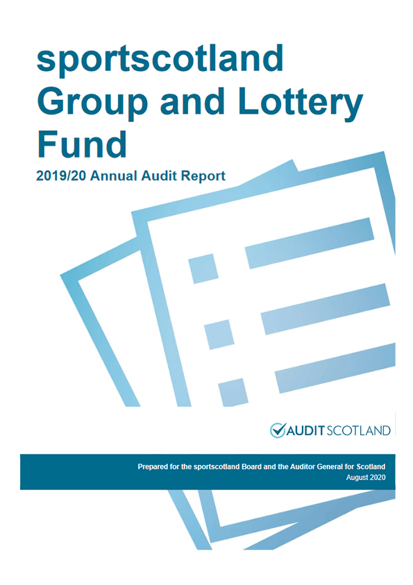 Report cover: Sportscotland Group annual audit 2019/20