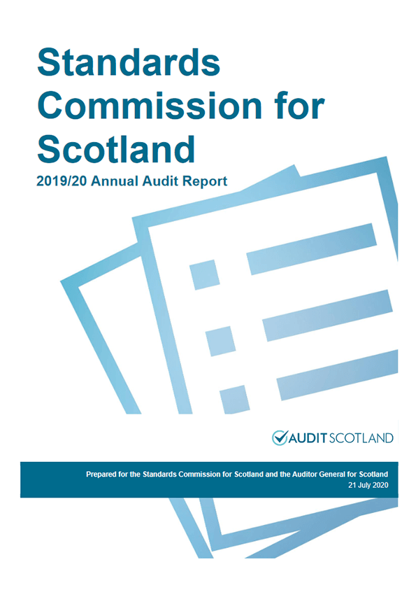Report cover: Standards Commission for Scotland annual audit 2019/20