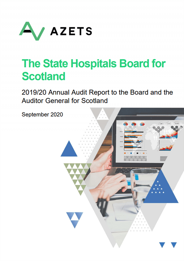 Report cover: The State Hospitals Board for Scotland annual audit report 2019/20