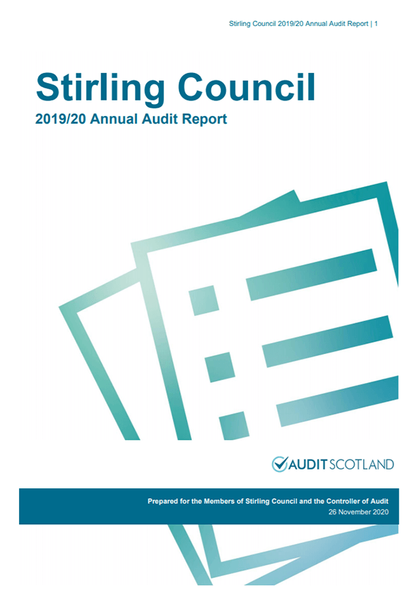 Report cover: Stirling Council annual audit 2019/20