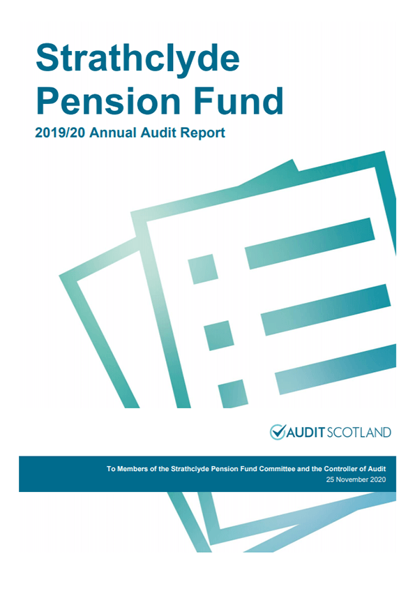 Report cover: Strathclyde Pension Fund annual audit 2019/20