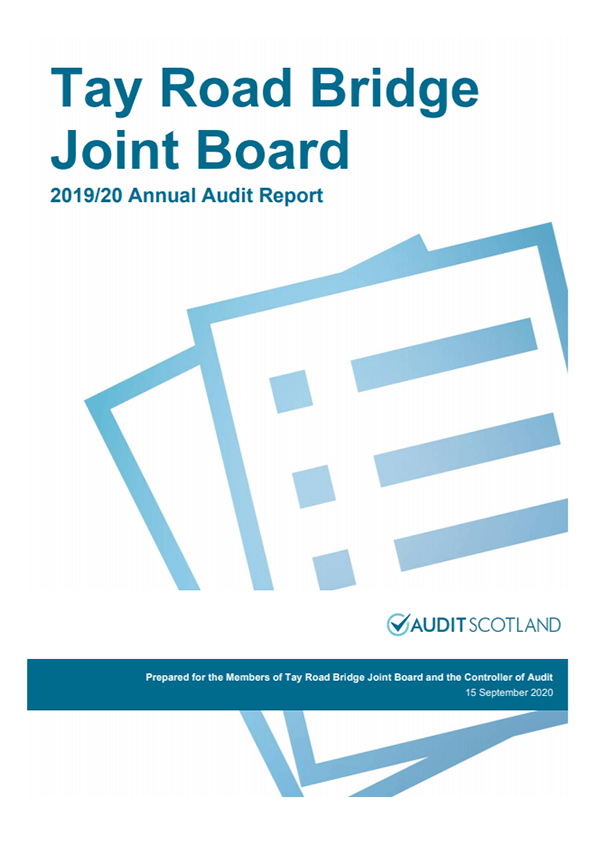 Report cover: Tay Road Bridge Joint Board annual audit 2019/20