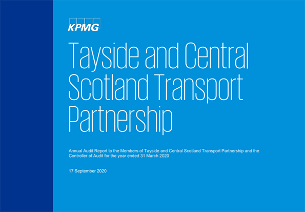 Report cover: Tayside and Central Scotland Transport Partnership annual audit 2019/20