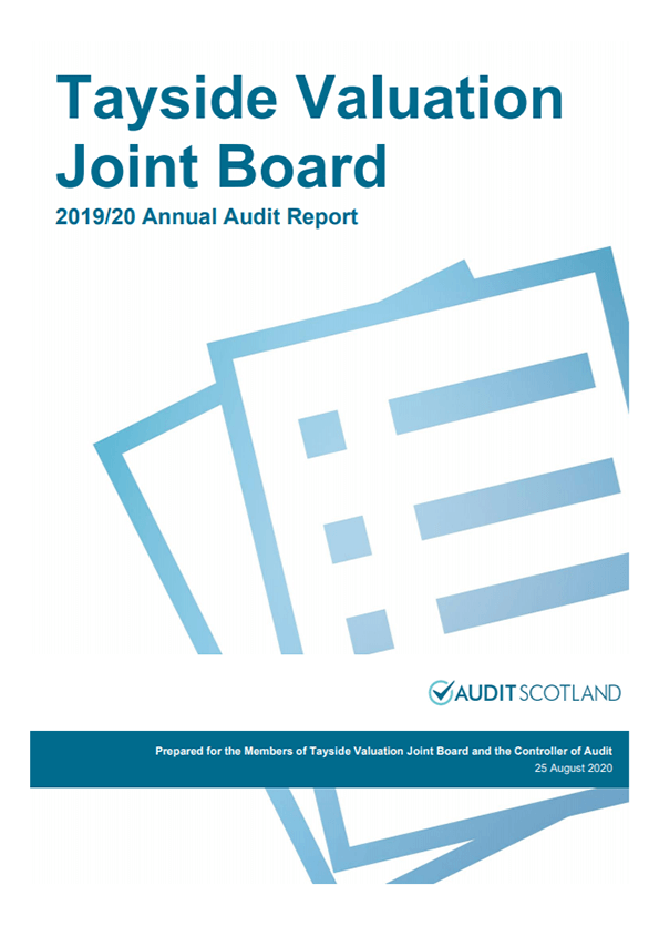 Report cover: Tayside Valuation Joint Board annual audit 2019/20