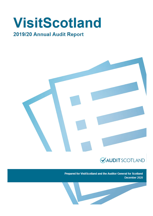 Report cover: VisitScotland annual audit 2019/20